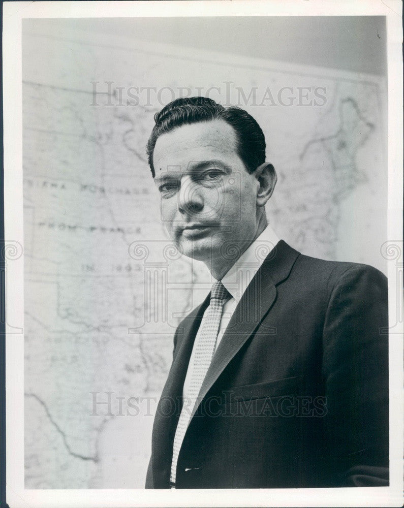 1968 TV News Anchorman David Brinkley Press Photo - Historic Images
