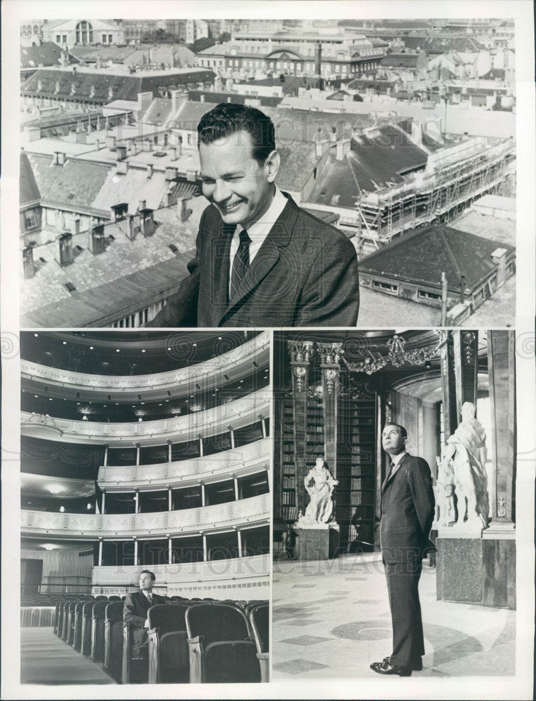 1962 TV News Anchorman David Brinkley in Vienna, Austria Press Photo - Historic Images