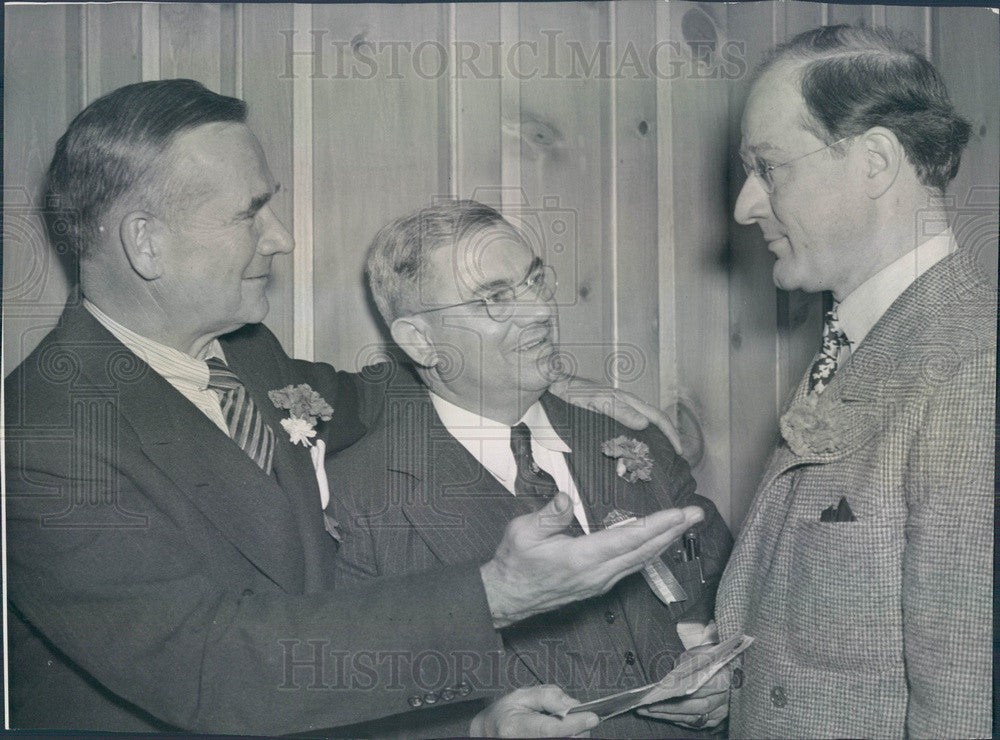 1940 Amateur Athletic Union Officials Jeremiah Mahoney Press Photo - Historic Images