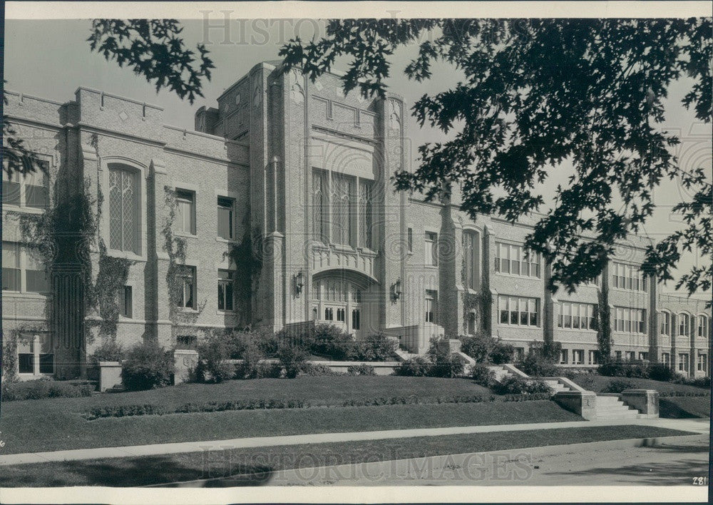 1934 Denver, Colorado Byers Junior High School Press Photo - Historic Images
