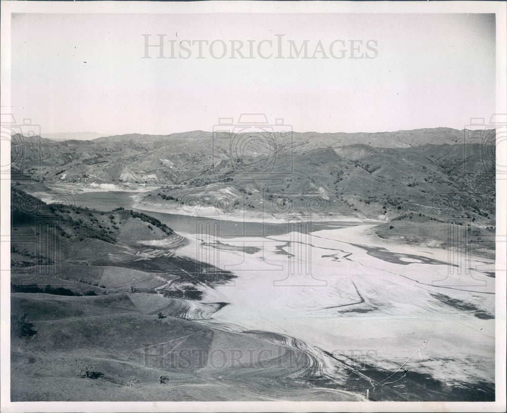 1948 San Francisco, CA Calaveras Reservoir During Drought Press Photo - Historic Images