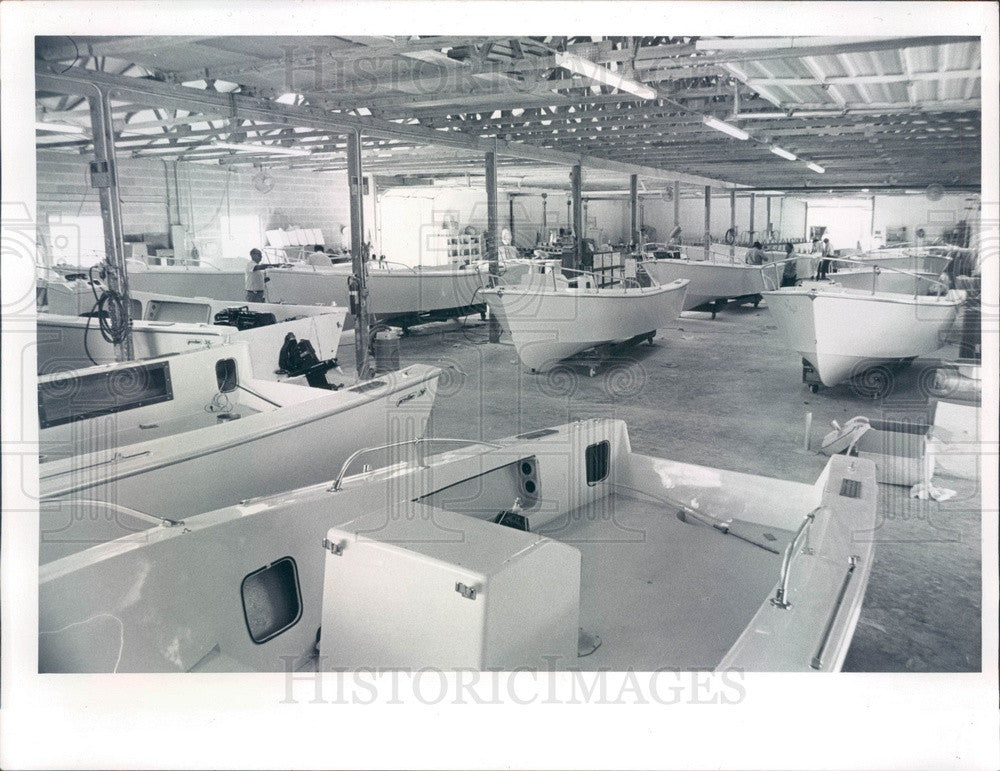 1974 Homosassa Springs, Florida Pro-Line Boat Works Press Photo - Historic Images