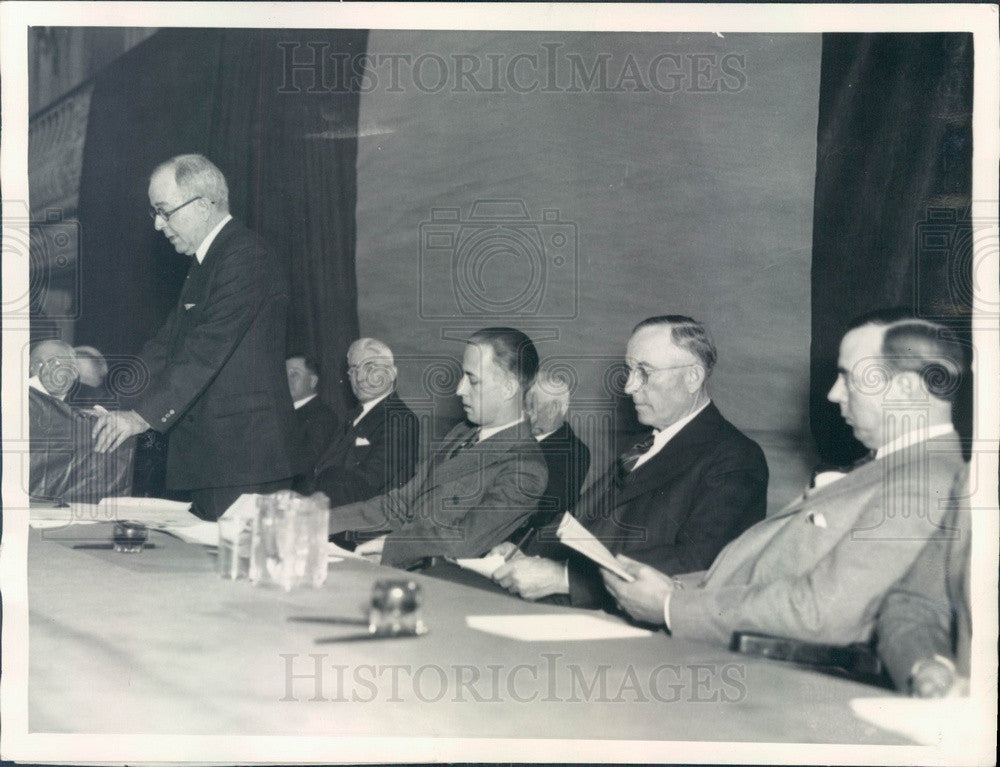 1933 American Farm Bureau Federation, President Edward O'Neal Press Photo - Historic Images