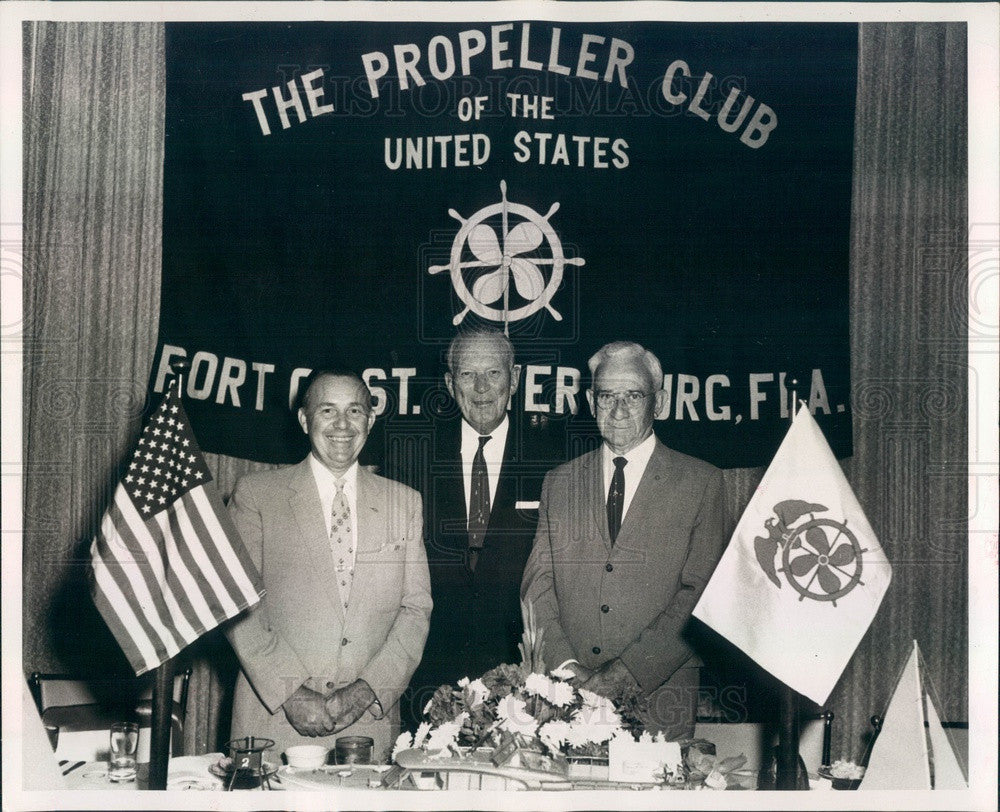 1963 St Petersburg, Florida Propeller Club Officers Elbert Tune Press Photo - Historic Images