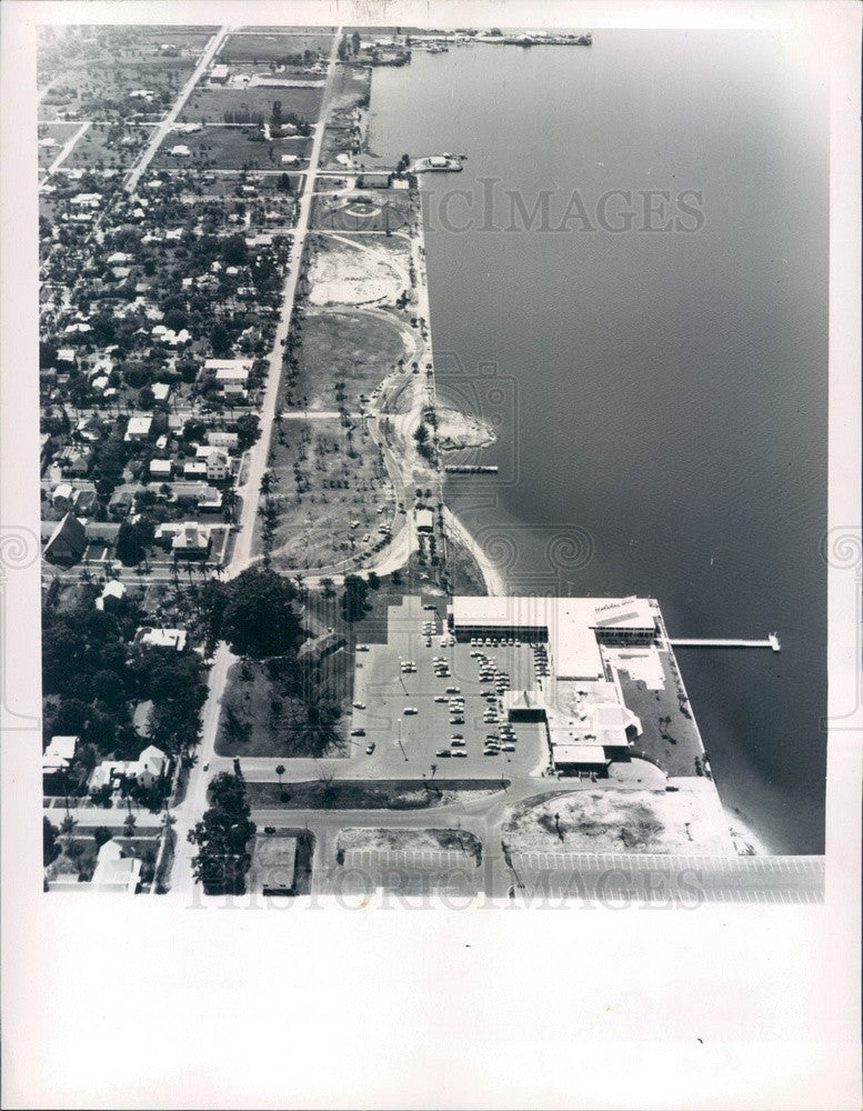 1971 Punta Gorda, FL Gilchrist Park Bricking Project Aerial View Press Photo - Historic Images