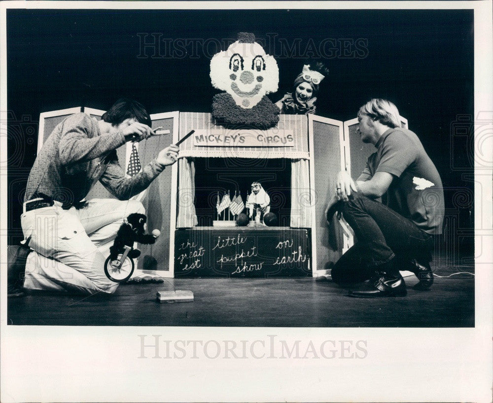 1972 Puppeteer Helen Ball & Blue Troupe Circus Puppets Press Photo - Historic Images