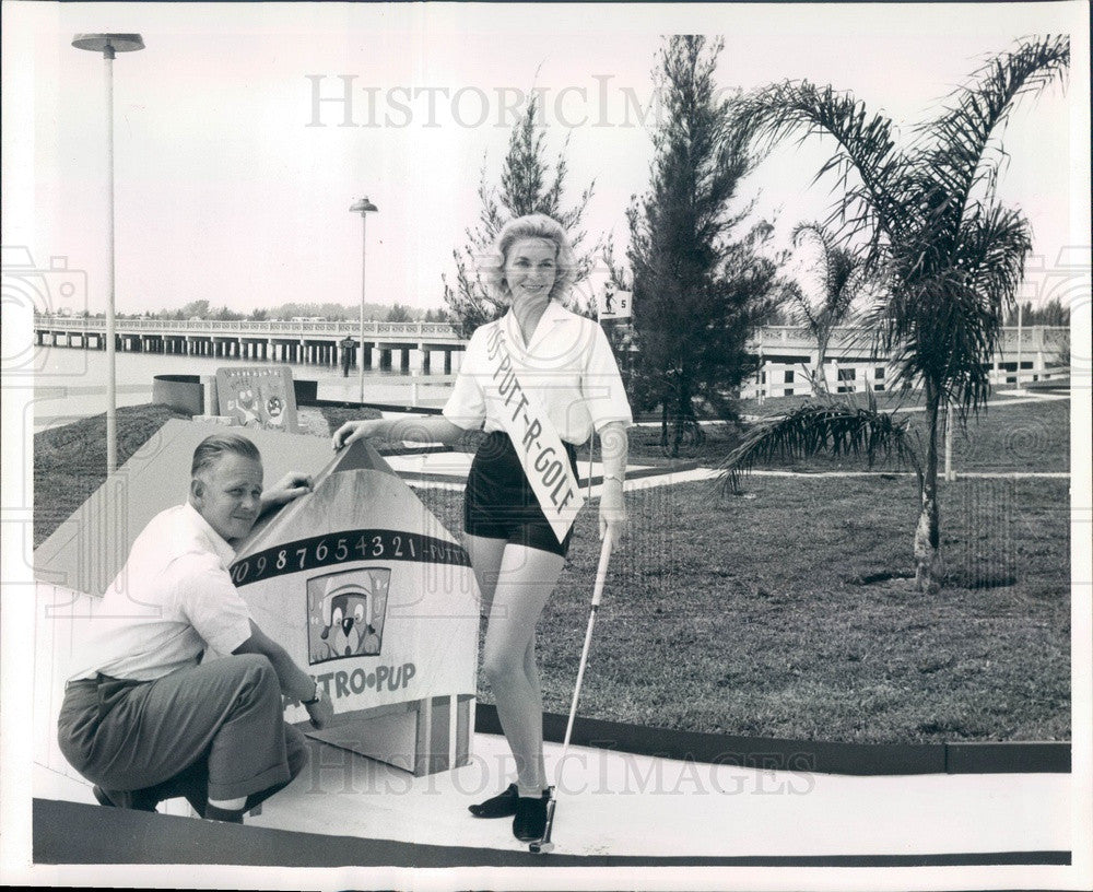 1961 St Petersburg Beach, FL Putt-R-Golf President Donald Nelson Press Photo - Historic Images
