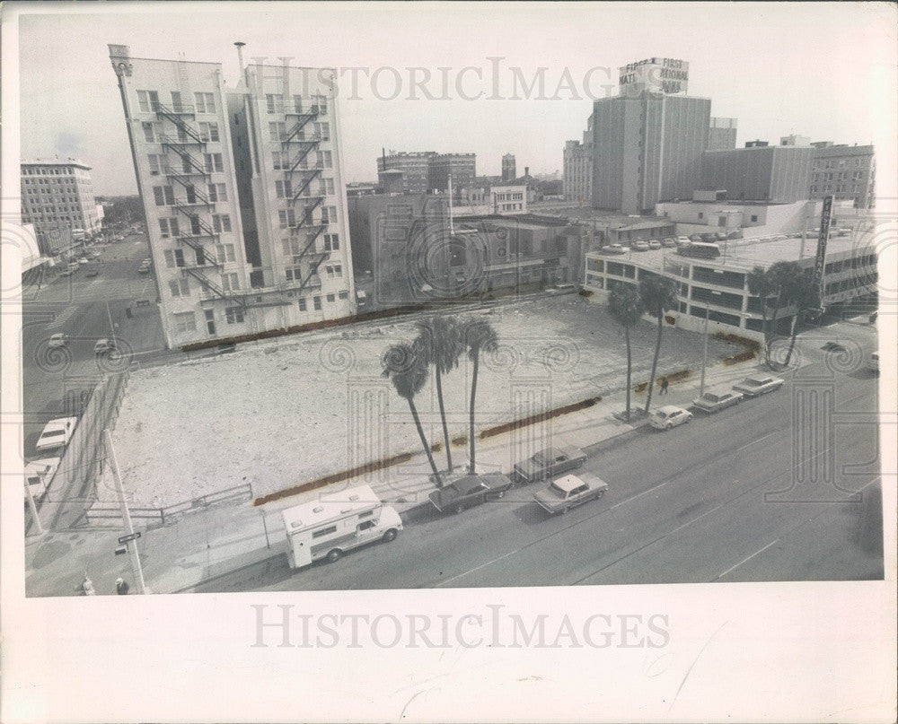 1969 St Petersburg, FL Old Florida Theater Site, 1st Ave S & 5th St Press Photo - Historic Images
