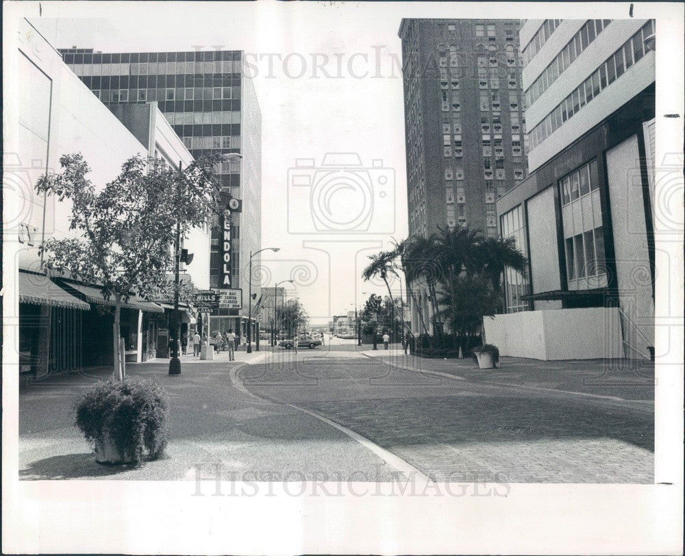 1975 St Petersburg, Florida Franklin Street Mall Press Photo - Historic Images