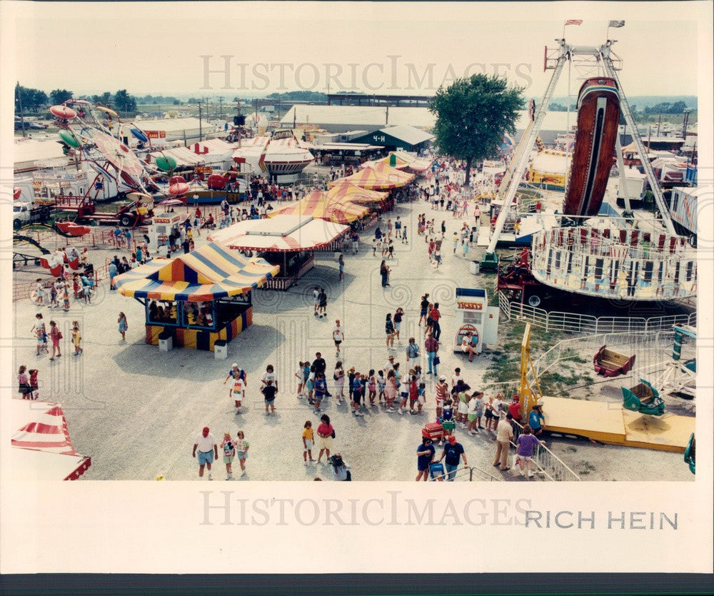 1991 Kane County, Illinois Fair, Midway Press Photo - Historic Images