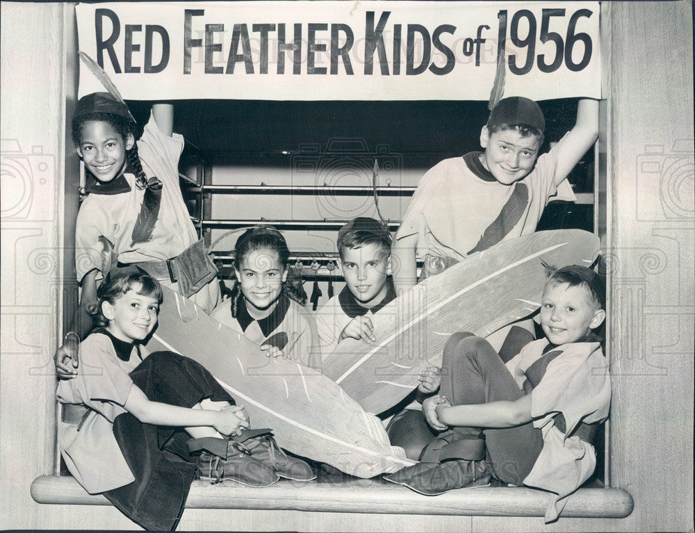1956 Chicago, Illinois Community Fund Red Feather Kids 1956 Press Photo - Historic Images