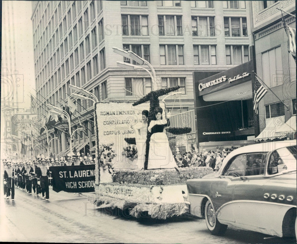 1964 Chicago, Illinois Columbus Day Parade Press Photo - Historic Images