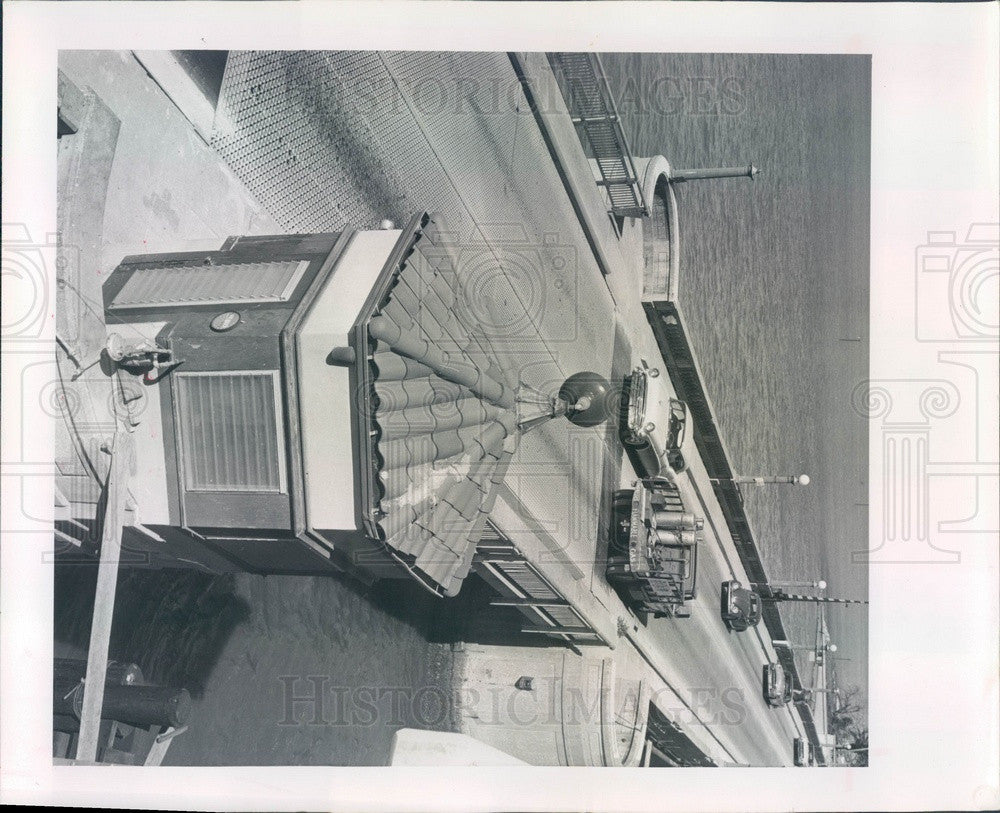 1963 Clearwater, Florida Clearwater Bridge & Bridge Tender's Bldg Press Photo - Historic Images