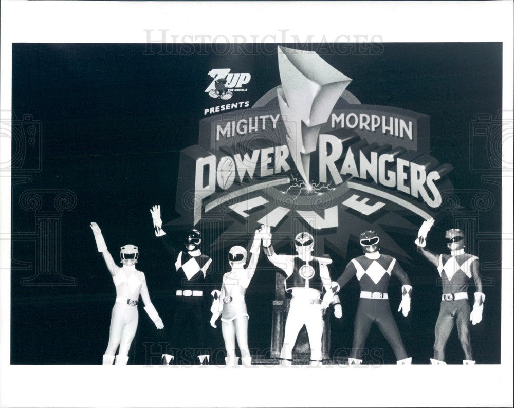 Undated Mighty Morphin Power Rangers TV Characters Press Photo - Historic Images