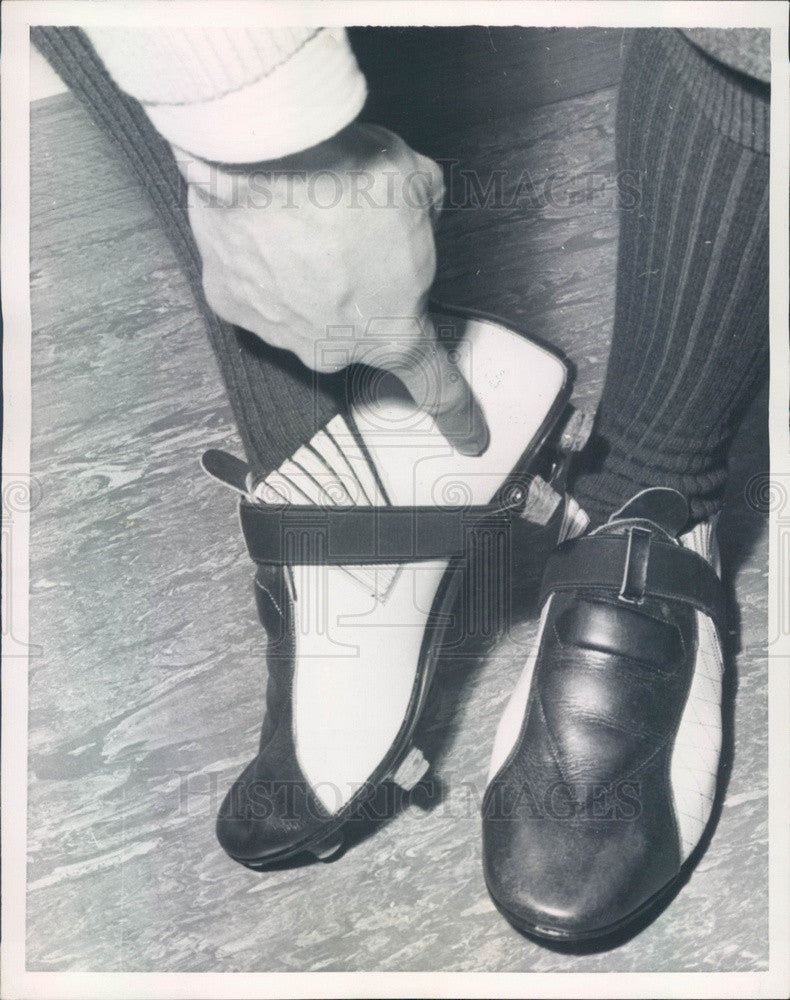 1958 Vienna, Austria Tornado Soccer Boots by Engelbert Harmer Press Photo - Historic Images