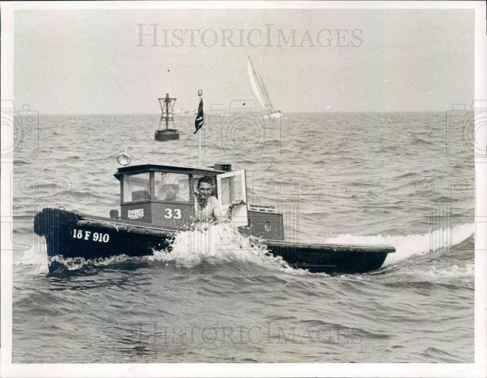 1954 St Petersburg, Florida World's Smallest Tugboat Little Sula Press Photo - Historic Images