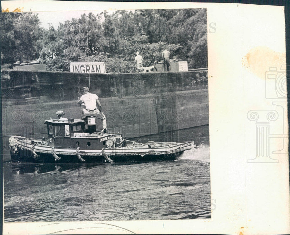 1958 St Petersburg, Florida World's Smallest Tugboat Little Sula Press Photo - Historic Images