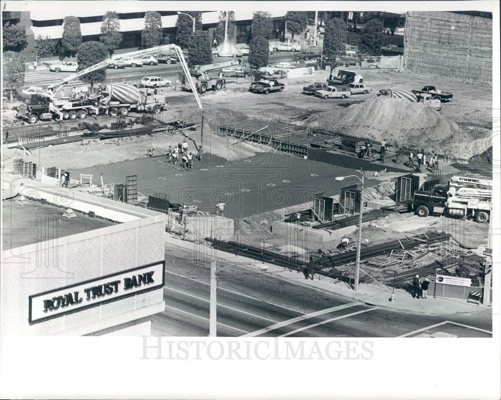 1983 St Petersburg, FL Florida Federal Tower Construction Press Photo - Historic Images