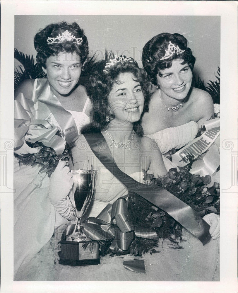 1962 St Petersburg, Florida Funtime Queen Iris Fincher, Princess Pat Press Photo - Historic Images
