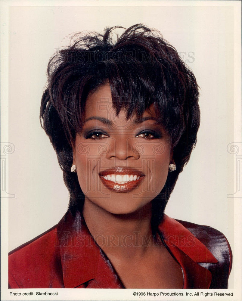 1996 American Media Proprietor/Host/Actress/Producer Oprah Winfrey Press Photo - Historic Images