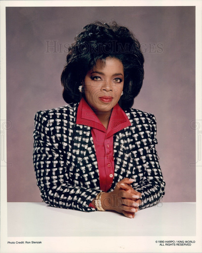 1997 American Media Proprietor/Host/Actress/Producer Oprah Winfrey Press Photo - Historic Images