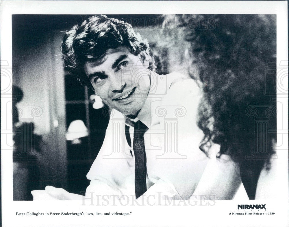 1989 American Actor/Musician/Writer Peter Gallagher Press Photo - Historic Images