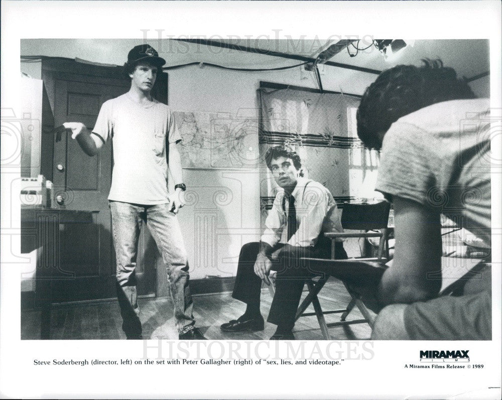 1989 American Actor Peter Gallagher/Director Steve Soderbergh Press Photo - Historic Images
