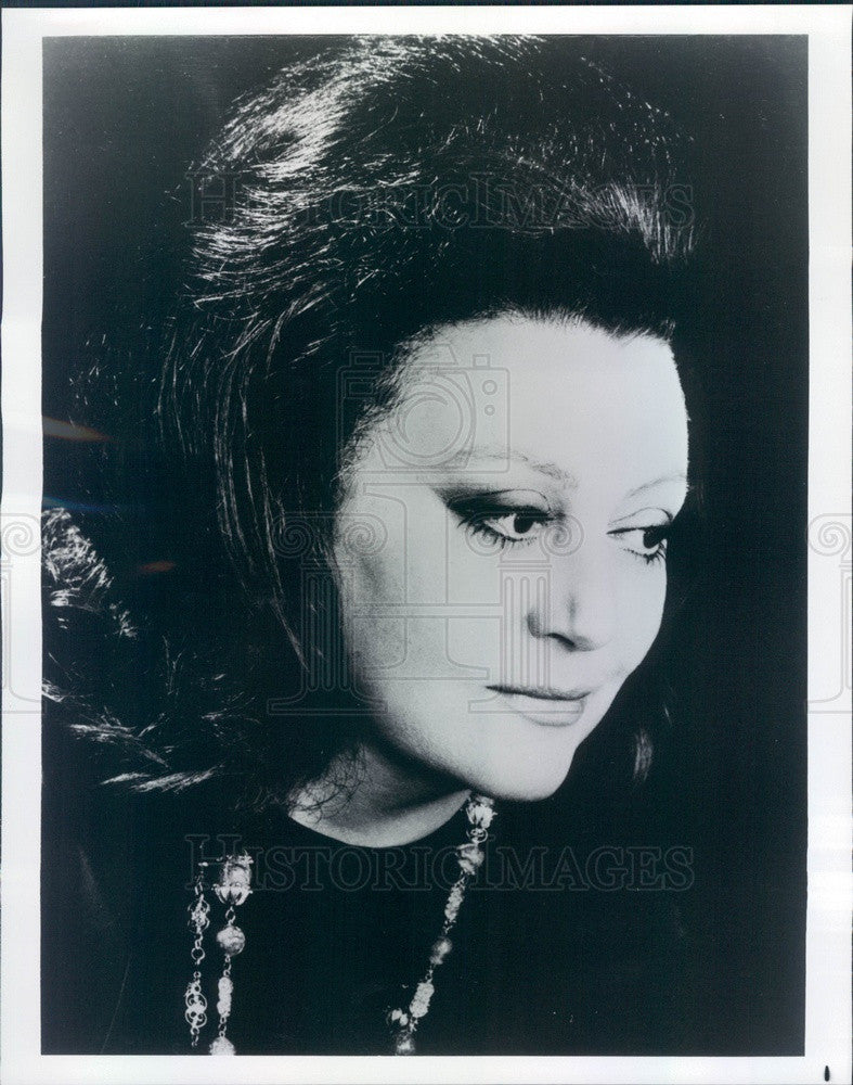 1977 French Singer Regine Crespin Press Photo - Historic Images