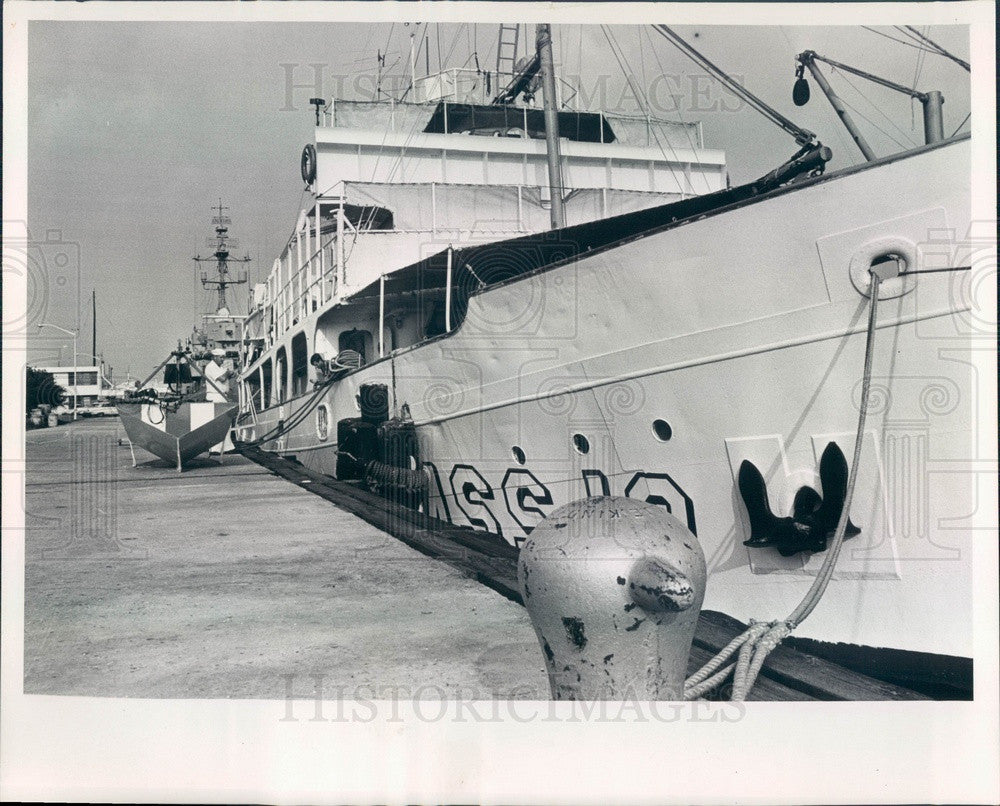 1966 US Coast & Geodetic Survey Ship Hydrographer in St Petersburg Press Photo - Historic Images
