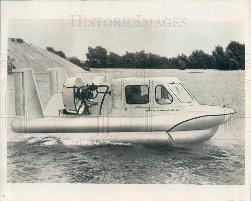 1969 British Air-Cushion Boat Hoverhawk Press Photo - Historic Images