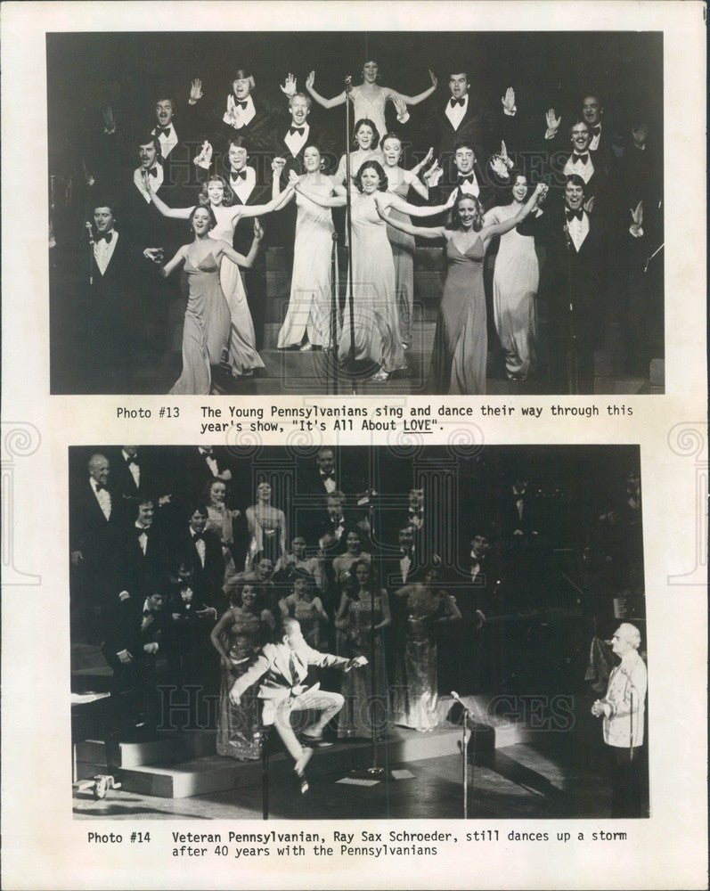 1980 Entertainers Young Pennsylvanians with Dancer Ray Sax Schroeder Press Photo - Historic Images
