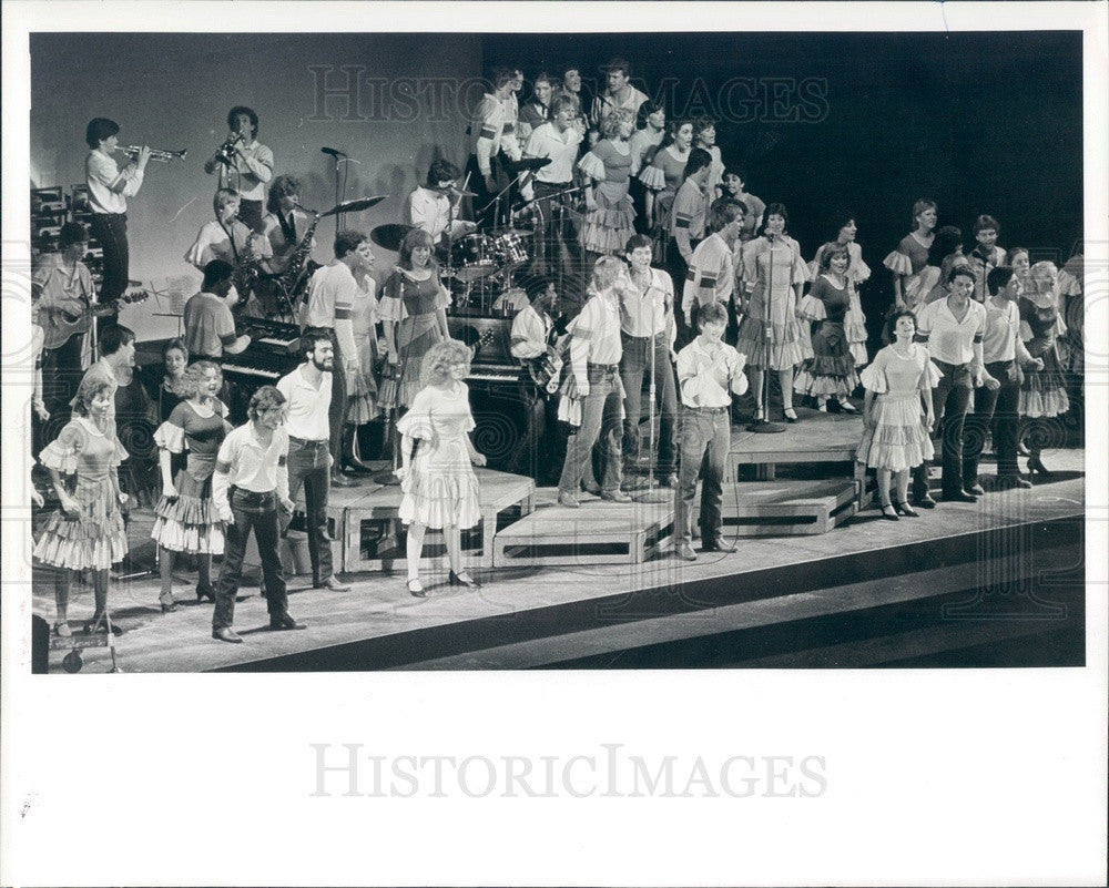 1984 Entertainers, Up With People Show Cast Press Photo - Historic Images