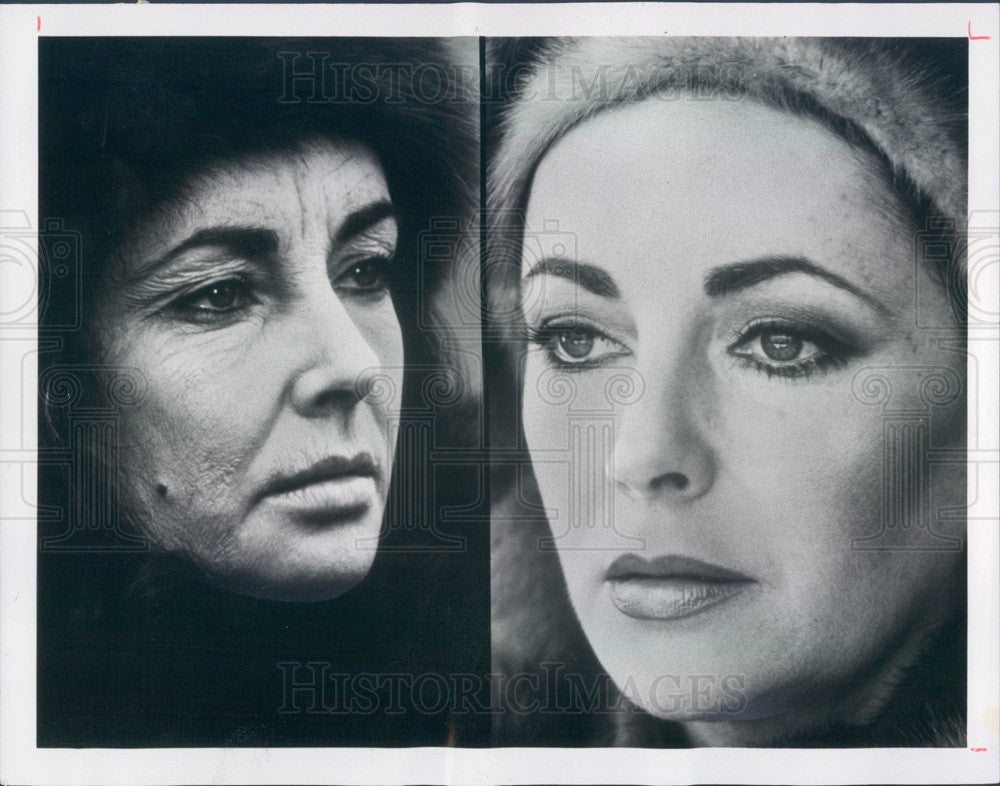 1978 Hollywood Actress Elizabeth Taylor in Film Ash Wednesday Press Photo - Historic Images