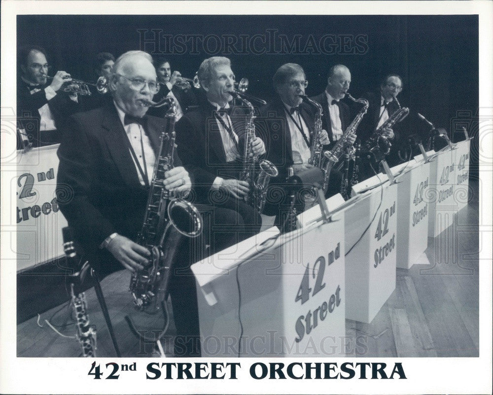 1996 Big Band Musicians 42nd Street Orchestra Press Photo - Historic Images