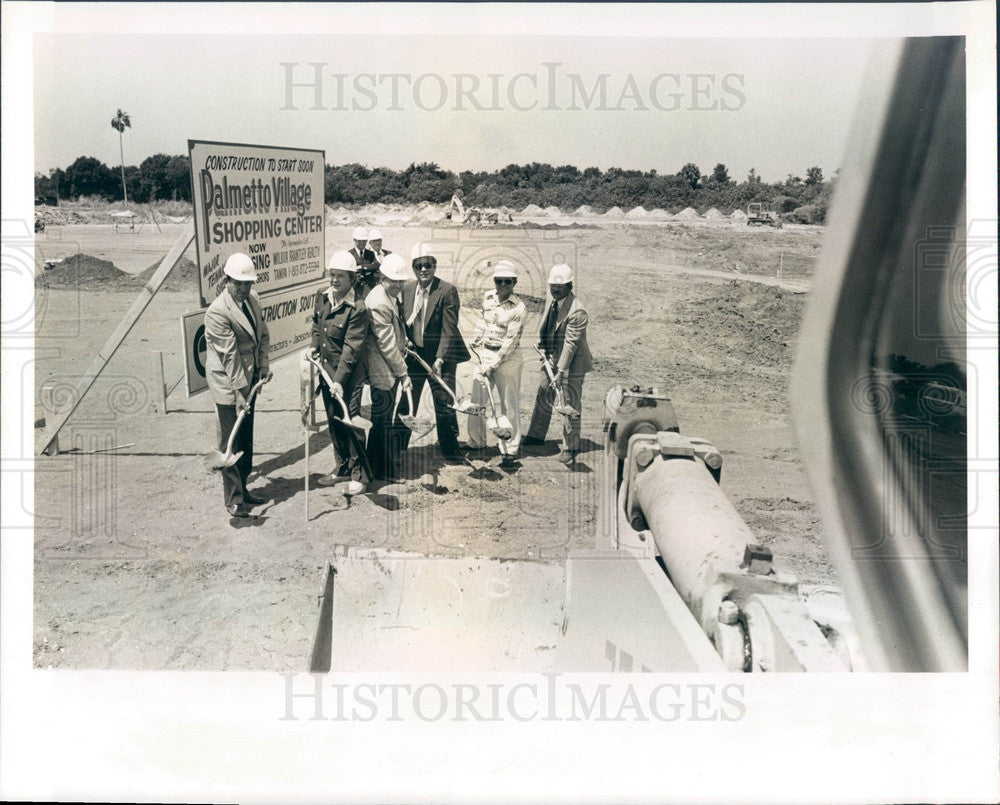 1976 Palmetto, FL Palmetto Village Shopping Center Groundbreaking Press Photo - Historic Images