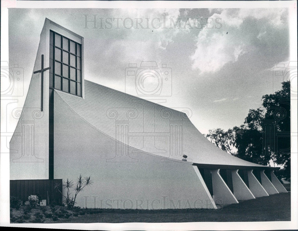 1975 Clearwater, Florida Grace Lutheran Church Press Photo - Historic Images