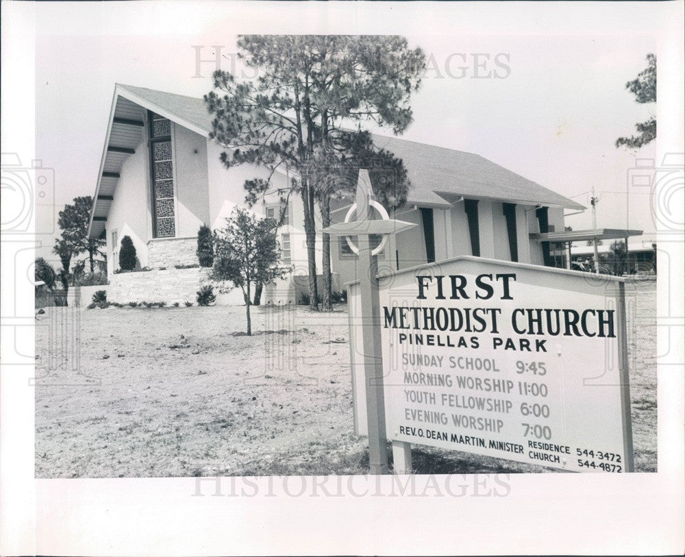 1965 Pinellas Park, Florida First Methodist Church Press Photo - Historic Images