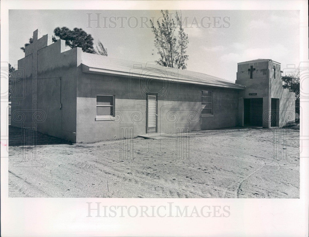 1963 Pinellas Park, Florida First Church of God Press Photo - Historic Images