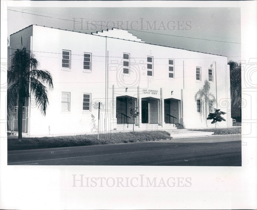 1981 St Petersburg, Florida First Evangelical Baptist Church Press Photo - Historic Images