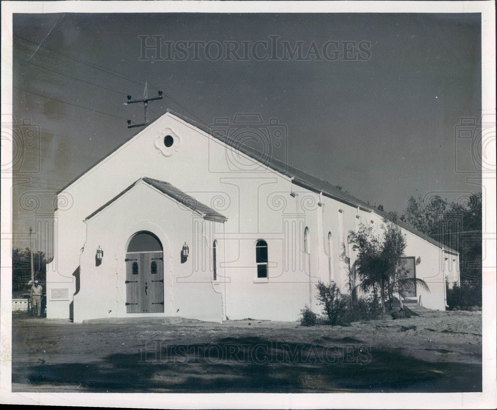 1950 Tarpon Springs, Florida Methodist Church Press Photo - Historic Images