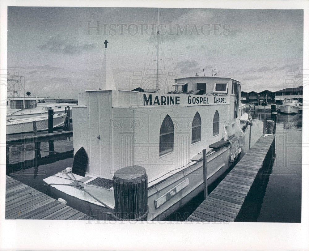 1966 Dunedin, Florida Marine Gospel Chapel Press Photo - Historic Images