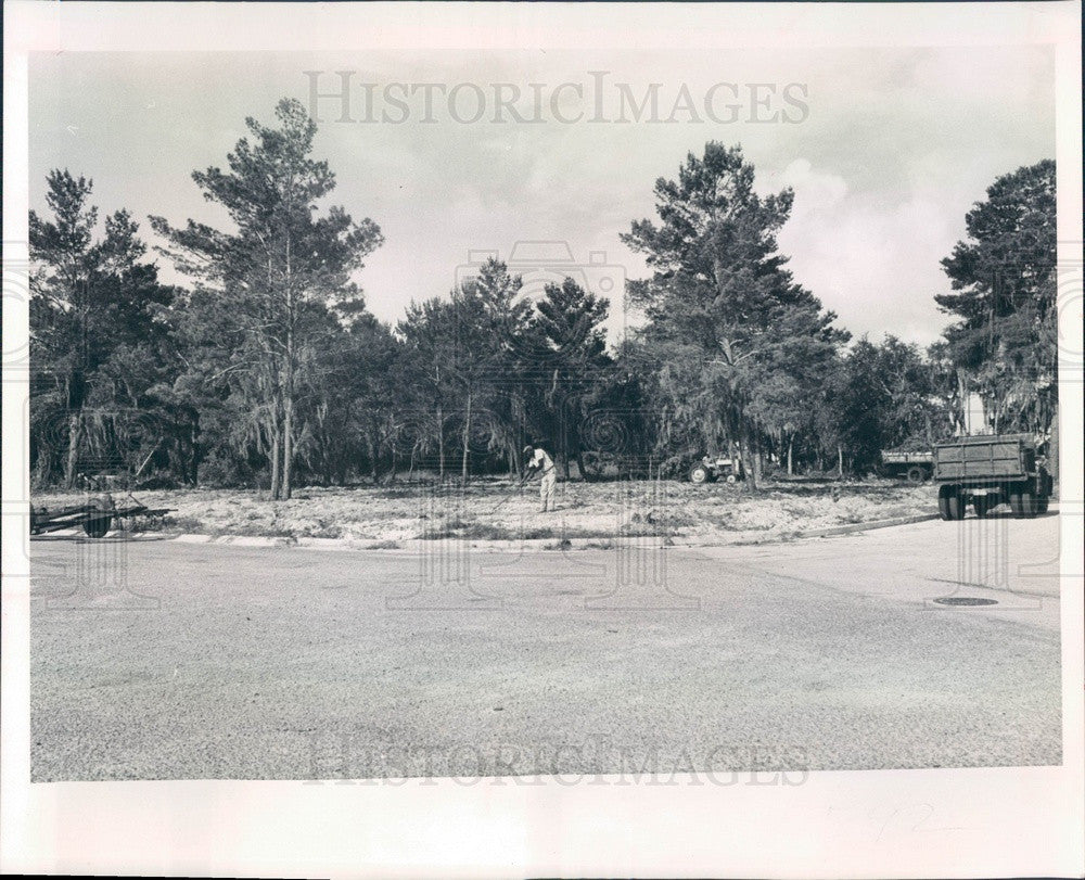 1964 St Petersburg, Florida Grace Bible Church Site Press Photo - Historic Images