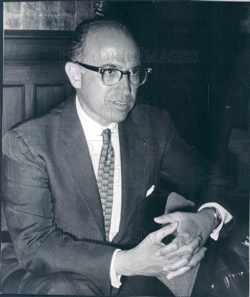 1962 Polio Vaccine Developer Dr. Jonas Salk Press Photo - Historic Images