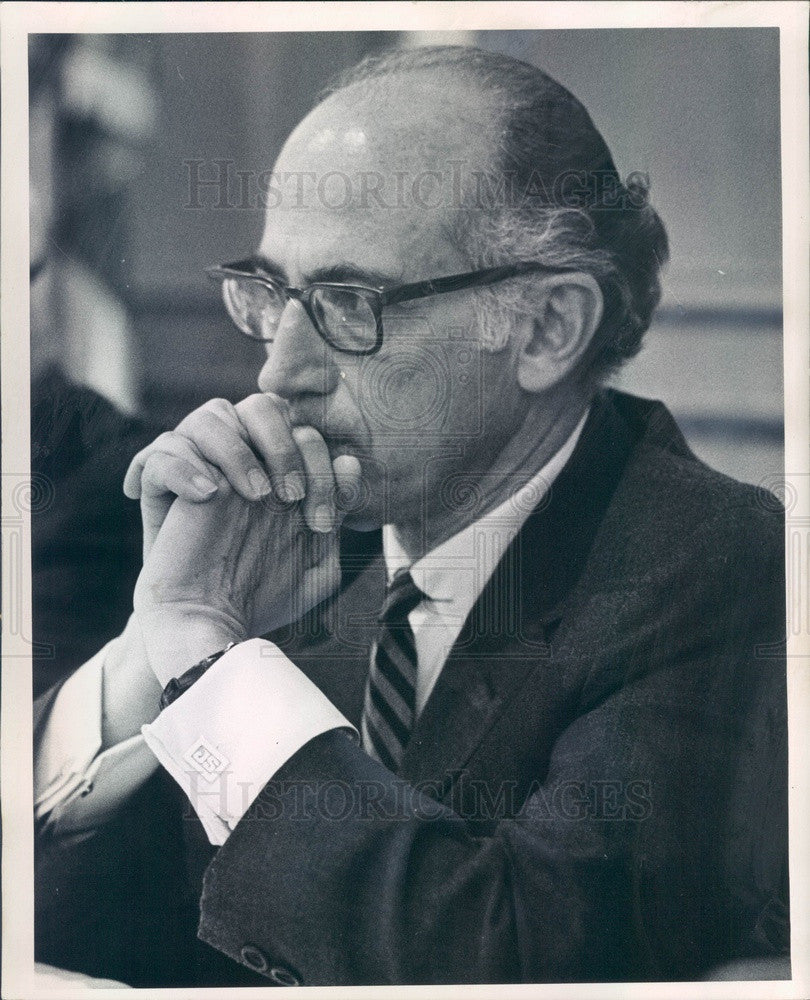 1969 Polio Vaccine Developer Dr. Jonas Salk Press Photo - Historic Images