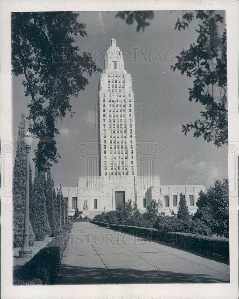1945 Baton Rouge, Louisiana State Capitol Building Press Photo - Historic Images