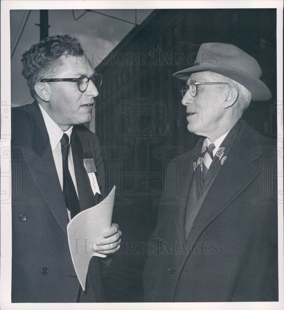 1952 Presbyterian USA Moderator Dr. Herman Morse, Dr. Ronal Bridges Press Photo - Historic Images