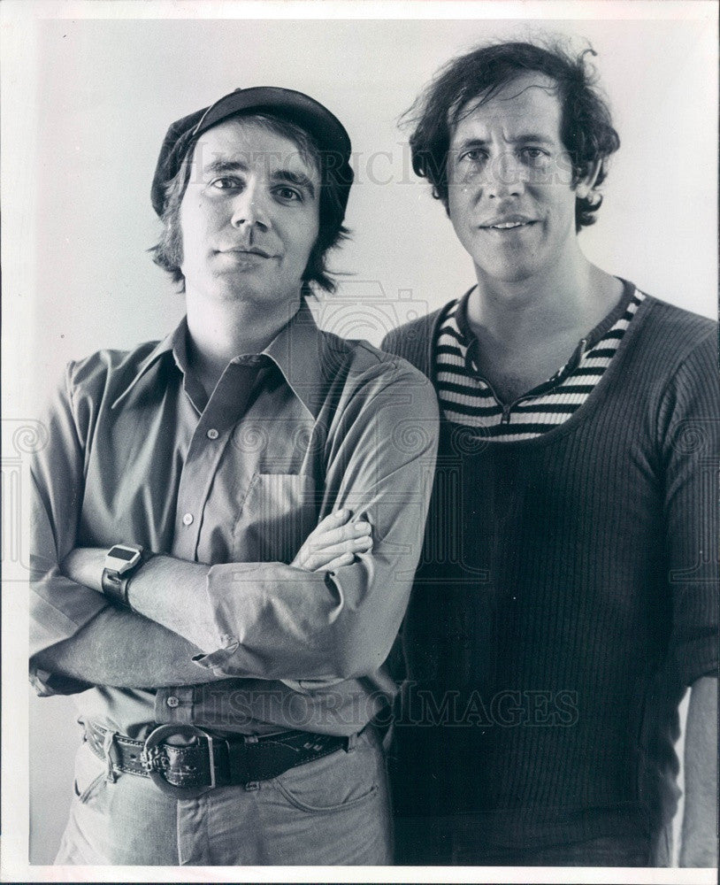1978 Playwright Eric Baldwin & David Lang Press Photo - Historic Images