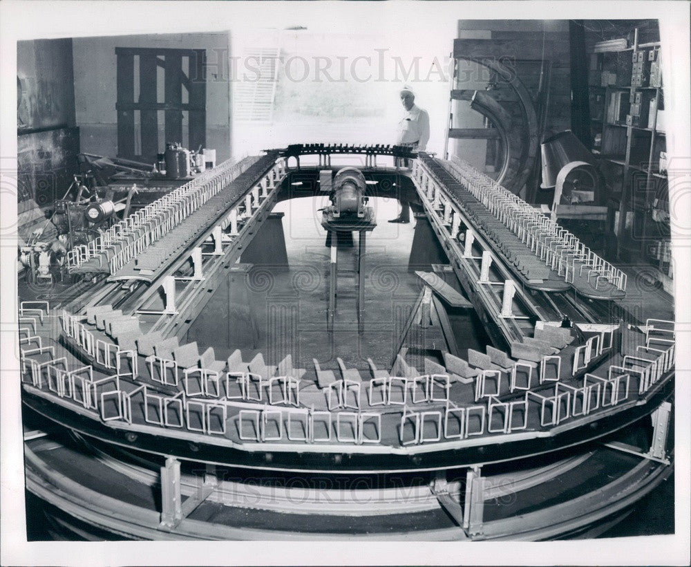 1954 Detroit, Michigan 1928 Rapid Transit Model by Herman Taylor Press Photo - Historic Images