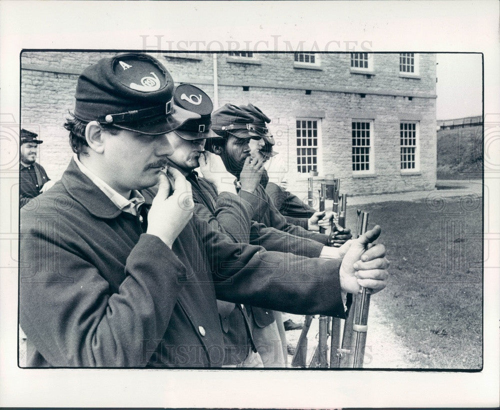 1979 Detroit, Michigan Fort Wayne Museum Troops Press Photo - Historic Images