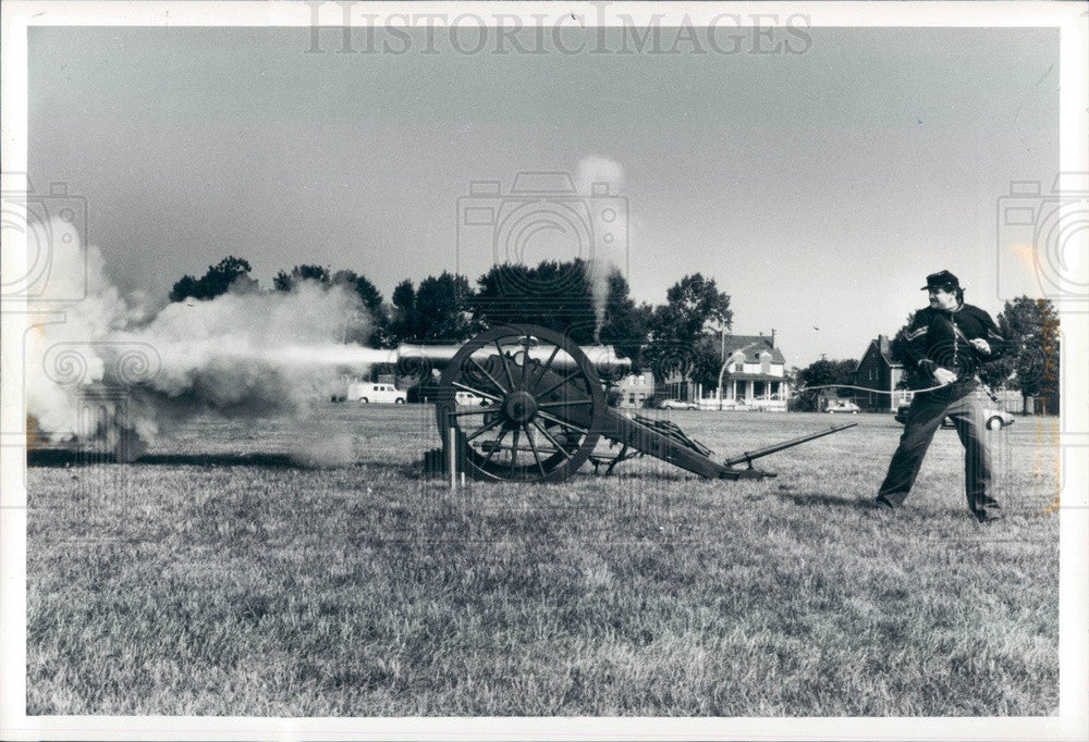 1984 Detroit, Michigan Fort Wayne Museum Civil War Cannon Press Photo - Historic Images